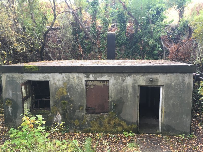Hidden Building off of the Fort Casey Building Tour trail.