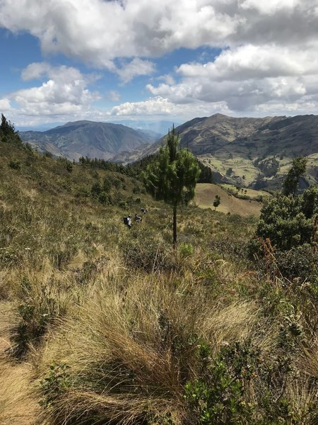 A view downhill towards Gualel