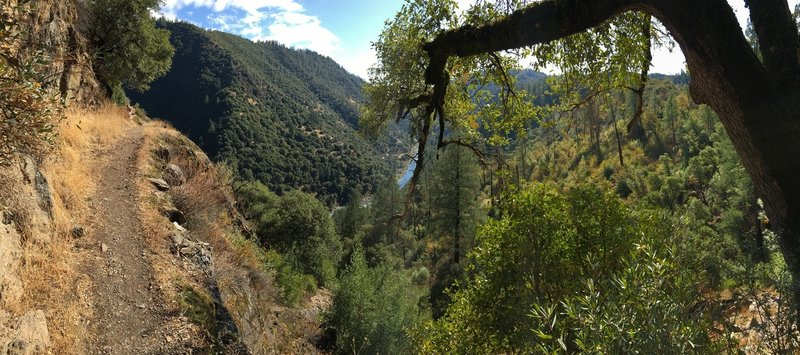 exposed area with the view of the north fork American river