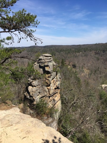 Outcropping near lovers leap off hood branch trail with an outstanding view of the valley below.