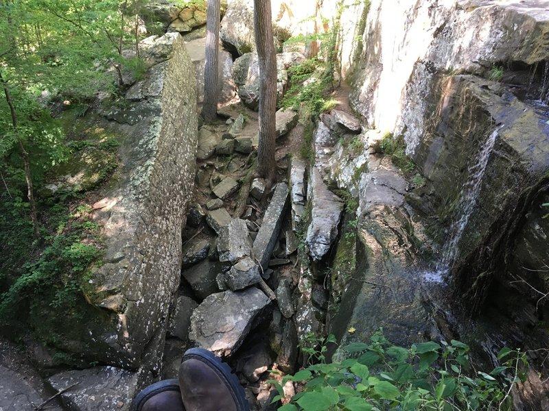 View of Burden Falls looking into breakdown.