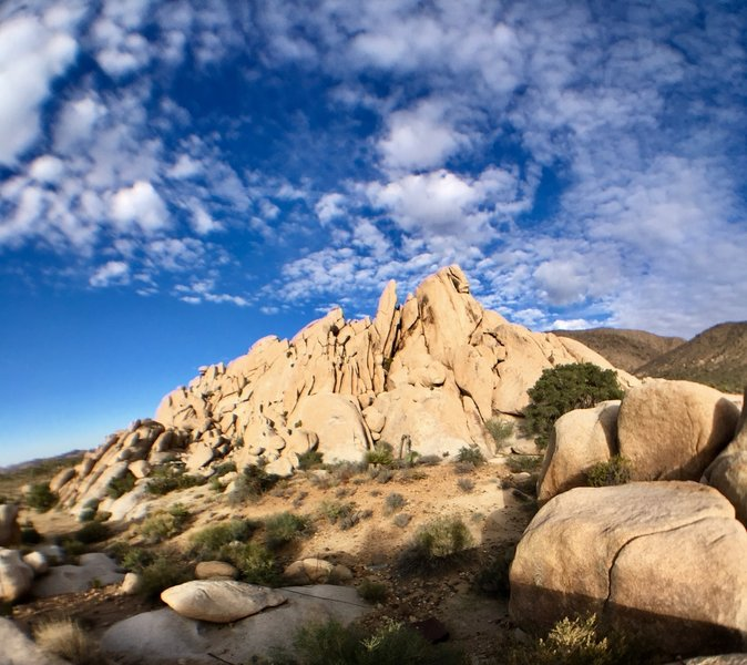 A beautiful rock face to the north west of Ryan Ranch.