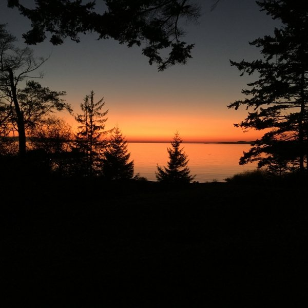Sunset on the Rosario Head Trail.