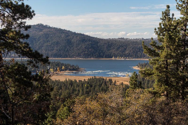 Big Bear Marina from the Cabin 89 Trail