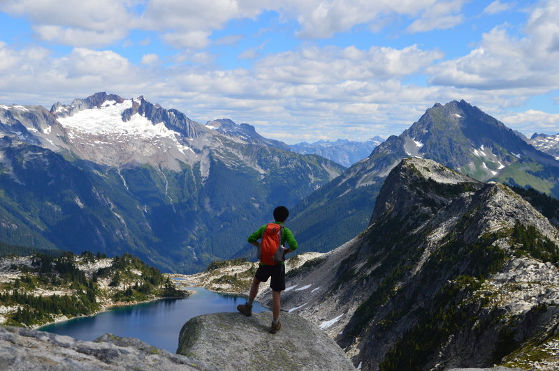 Hidden Lake and the North Cascades from Hidden Lake Lookout