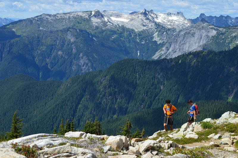 View from ridge on ascent of Hidden Lake Lookout