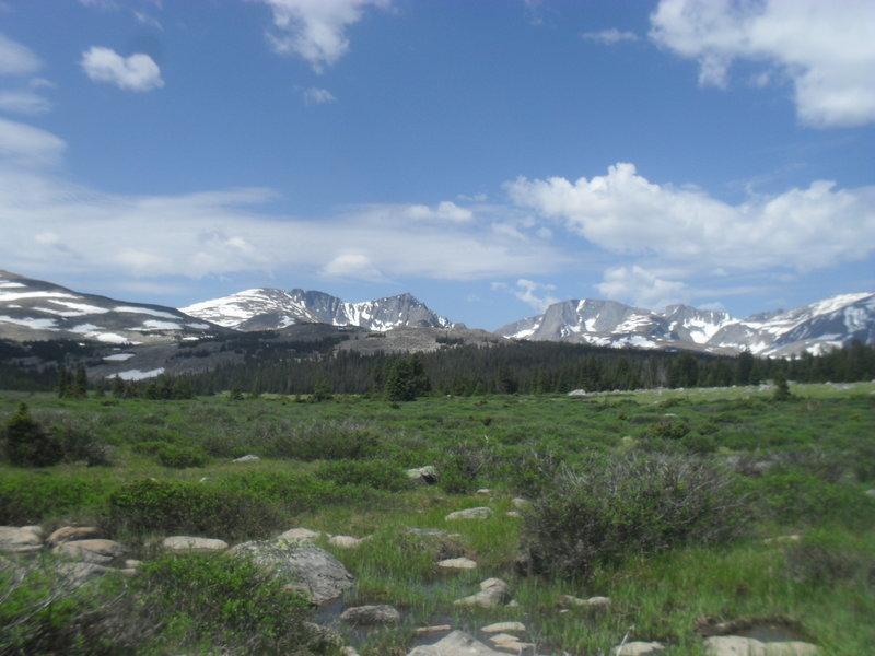 Elk Lake Area- View of Cloud Peak Wilderness. (July 2017)