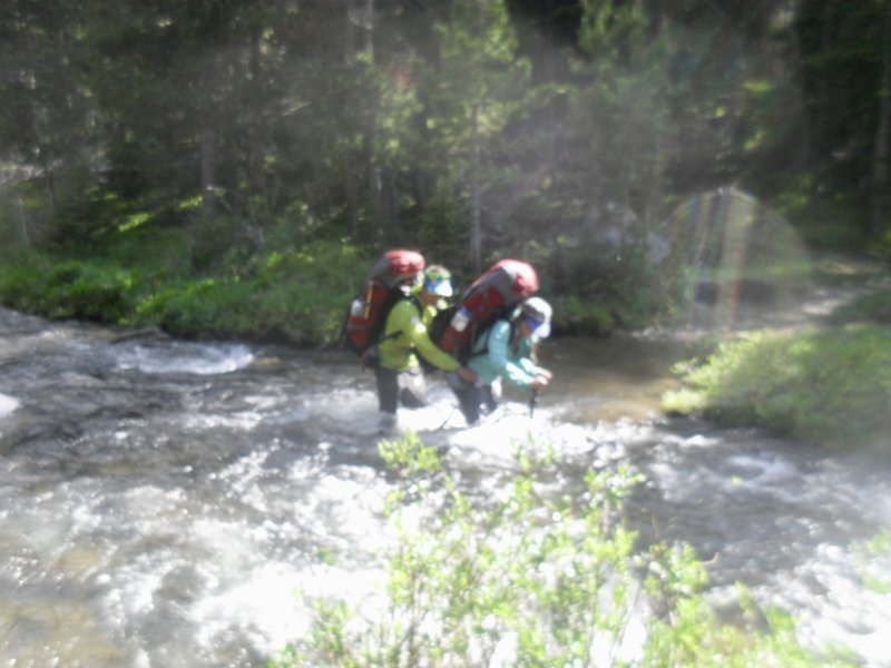 Eddyline river crossings may be necessary on some parts of the Solitude Trail.