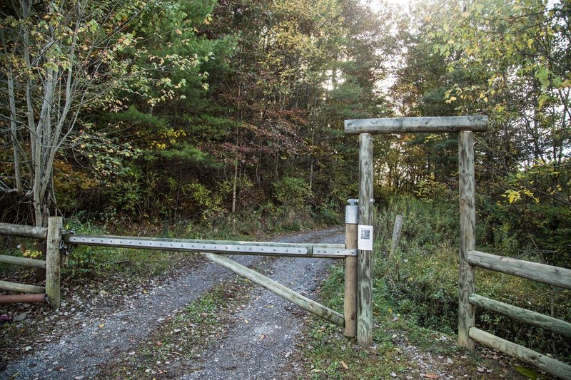 The entranceway to the CMHP RR service path