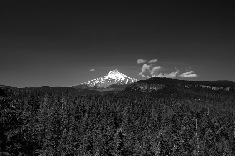 Mount Hood from atop the Flag Point Lookout