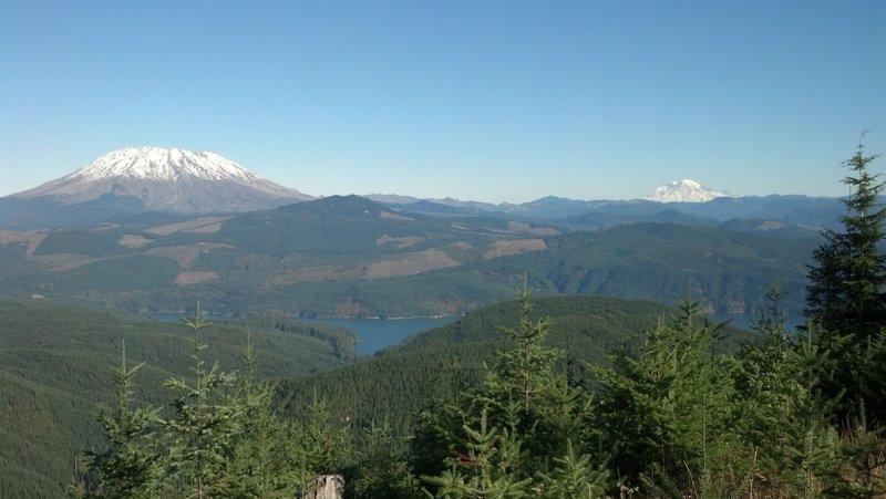 Mt. St. Helens and Mt. Rainier at mile 13.3