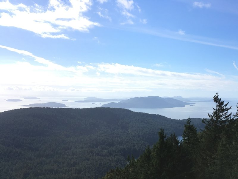 View of the San Juans from atop Moran Observation Tower