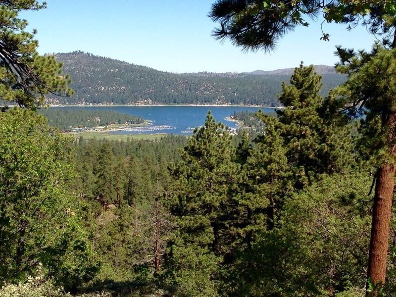 View of Big Bear Lake from Pine Knot Trail or 1E01.