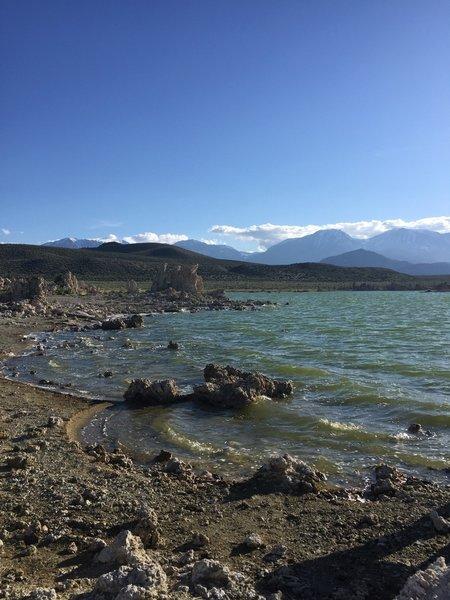 Tufa Formations at Edge of Mono Lake