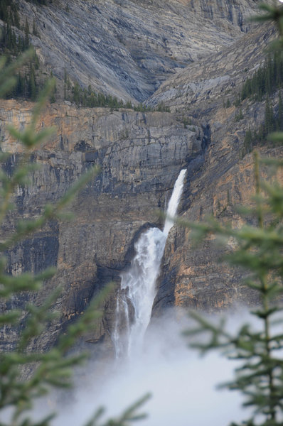 You'll have views of Takakkaw Falls nearly the entire way up Iceline