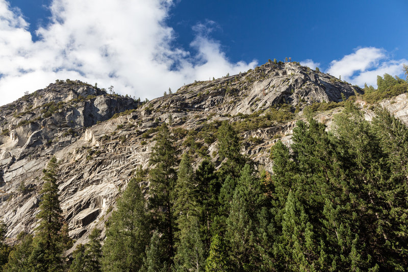Grizzly Peak from Mist Trail