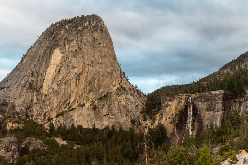 Liberty Cap and Nevada Falls from Clark Point