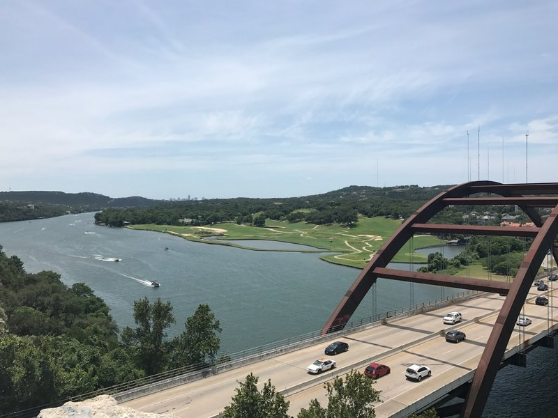 There are excellent views of Lake Travis and the Pennyback Bridge from the overlook
