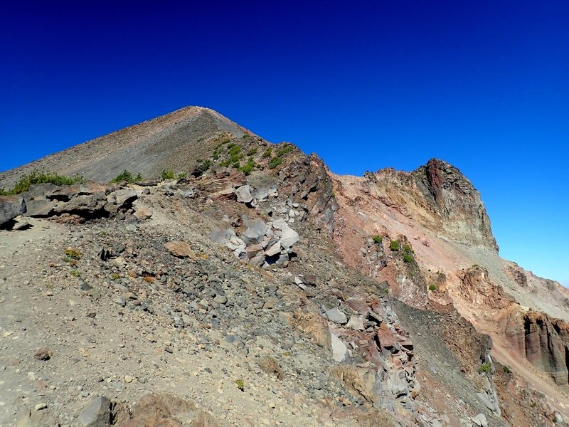 Looking up the ridge at the final 1,000 feet to McLoughlin's summit