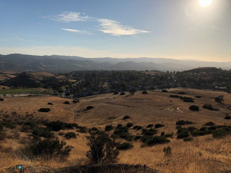 Looking down on Simi Valley.