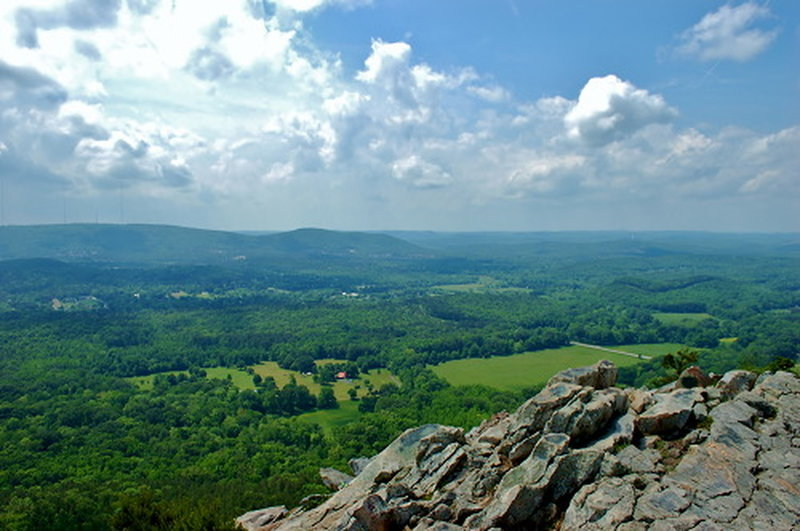 View from top of Pinnacle Mountain.