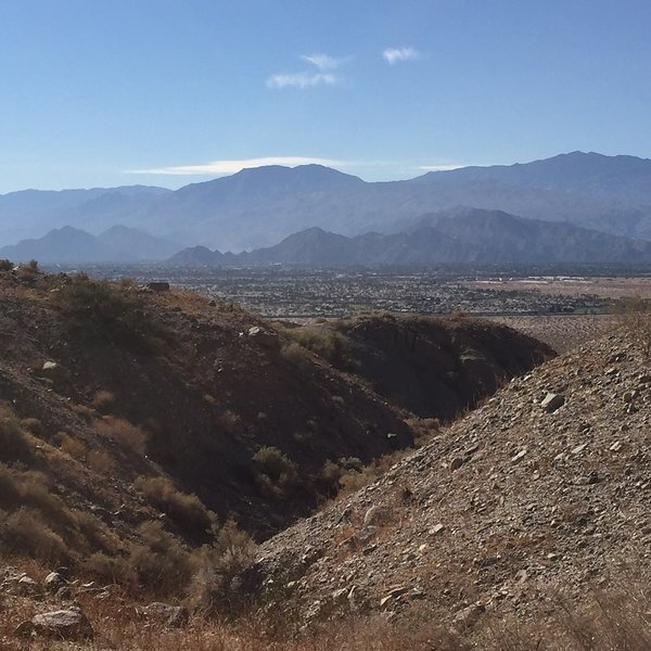View from ridge looking south over Indio/La Quinta.