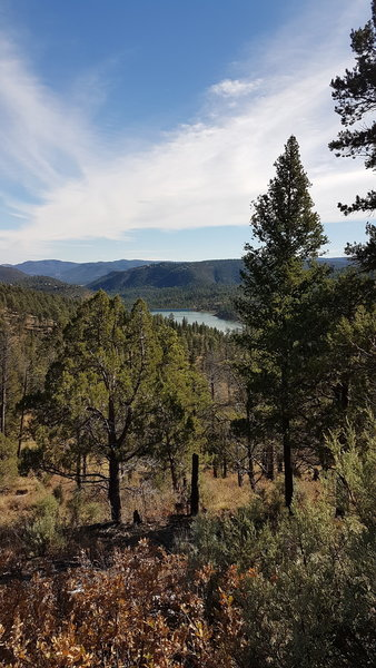 One mile point view over reservoir.