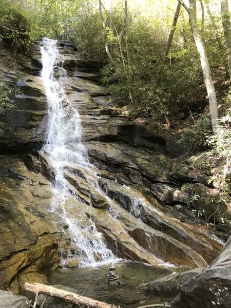 Jones Gap Falls next to the Middle Saluda River off a little side trail from Jones Gap Trail