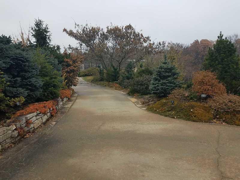 Trail to the Heartland Harvest Garden in November-Powell Gardens
