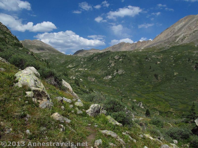 Views toward Lost Man Pass from the Linkins Lake Trail