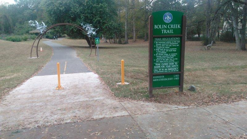Bolin Creek Trailhead