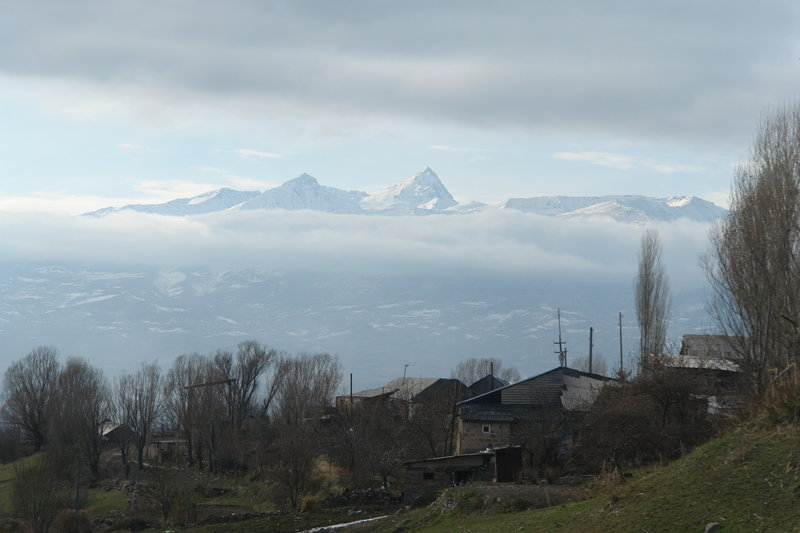 View to Mount Aragats.