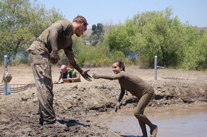 Marine Volunteer at the Final Mud Pit