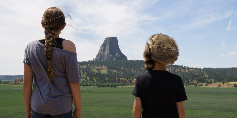 Devils Tower from the road to the NE