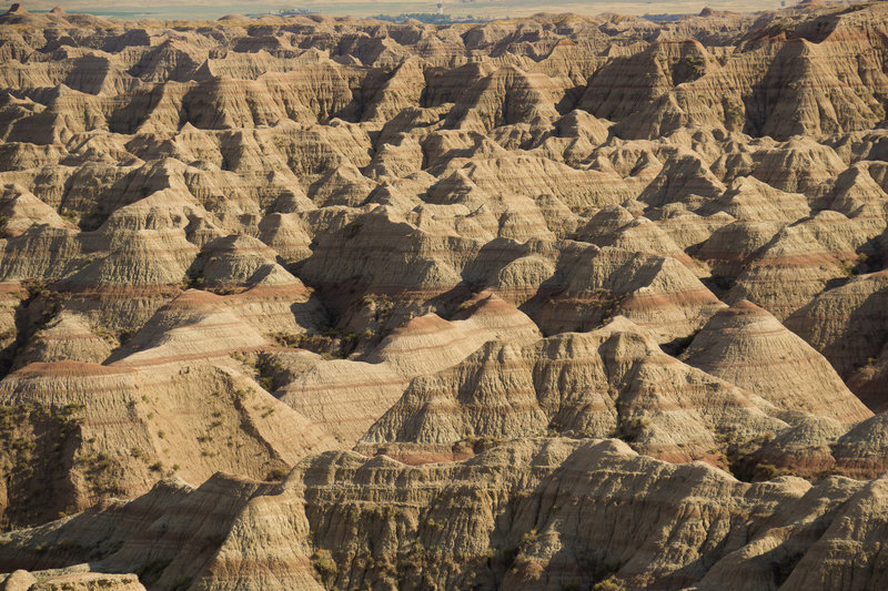 The layers and textures of the Badlands