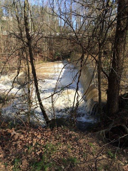 Old Mill Remains at Ivy Creek Greenway