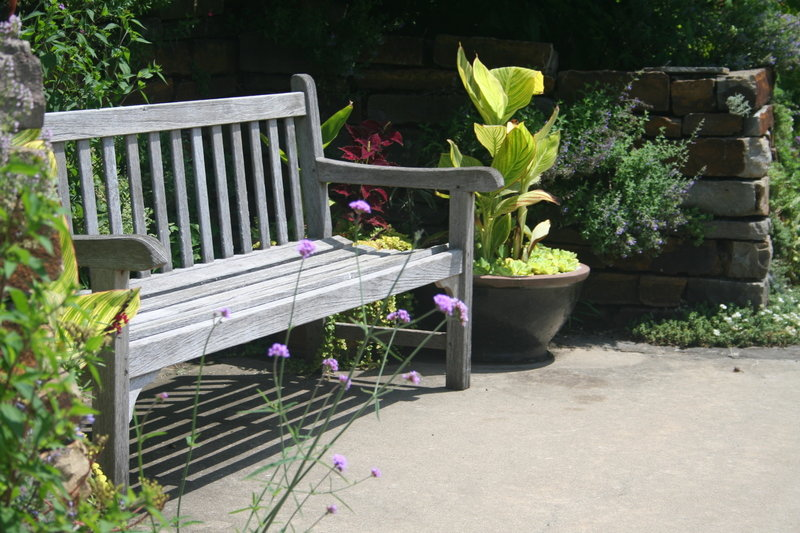 A pleasant place to sit-Island Garden at Powell Gardens