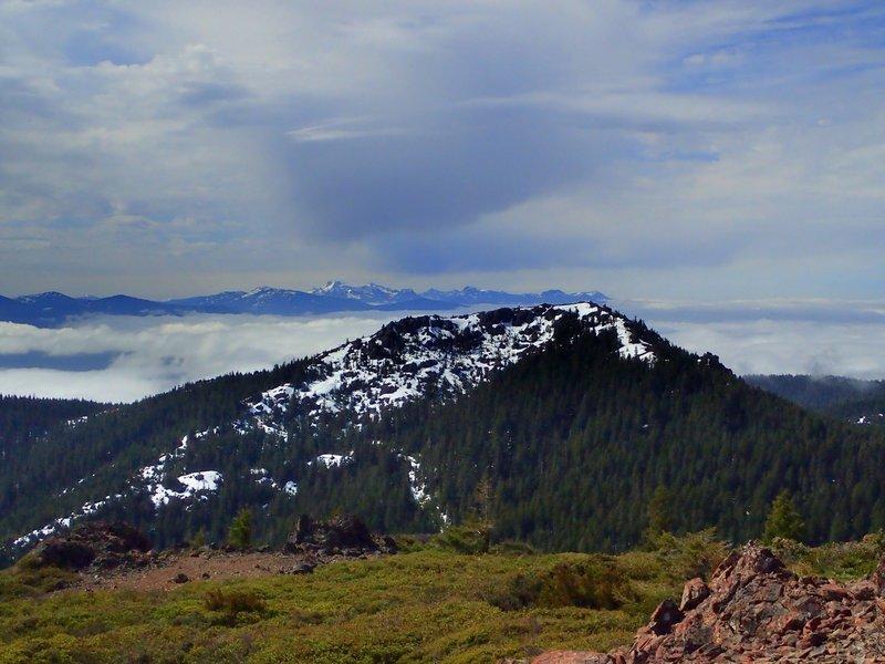 Preston Peak in the Siskiyou Wilderness on the far horizon