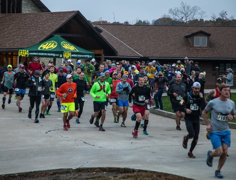 The exuberant start to the Bobcat Trail Marathon