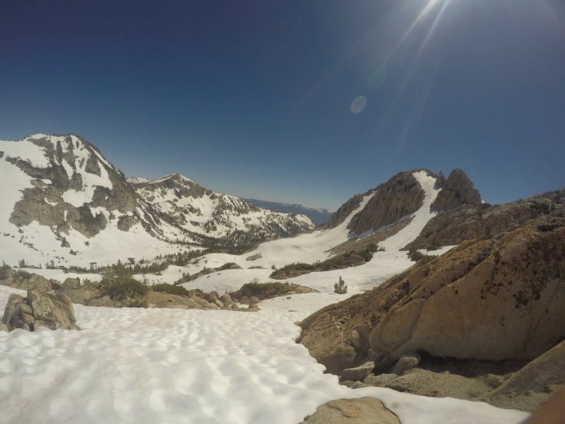 Almost to the top of Goodale Pass