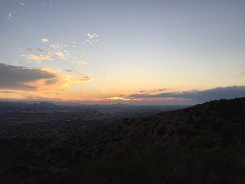 Sunset over San Bernardino Airport