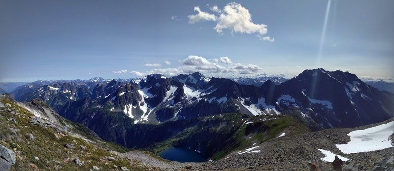 View from Sahale Glacier Camp