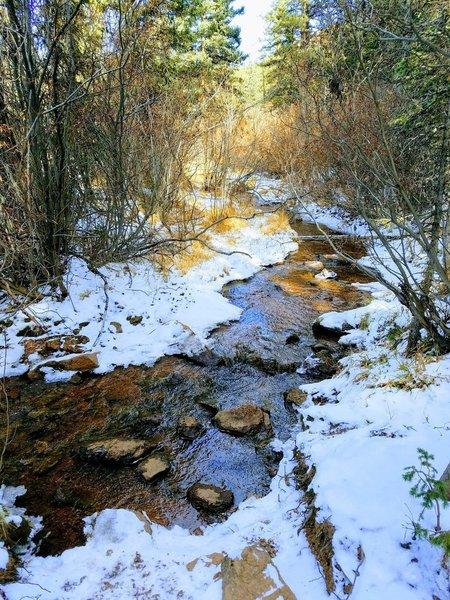 Oil Creek Tributary alongside Horsethief Park Trail