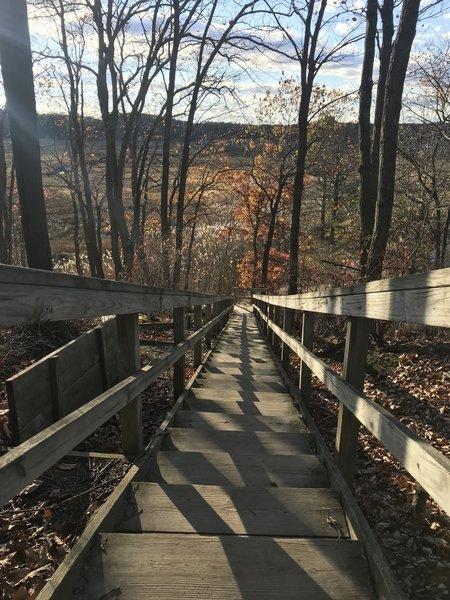 Stairwell to Hooks Creek Lake