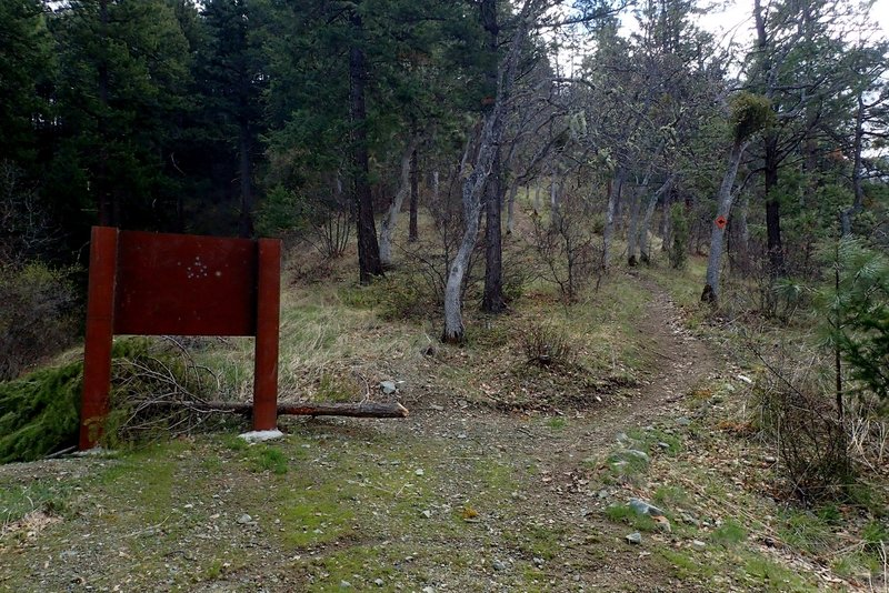 The trailhead at the north end of the #918 Trail