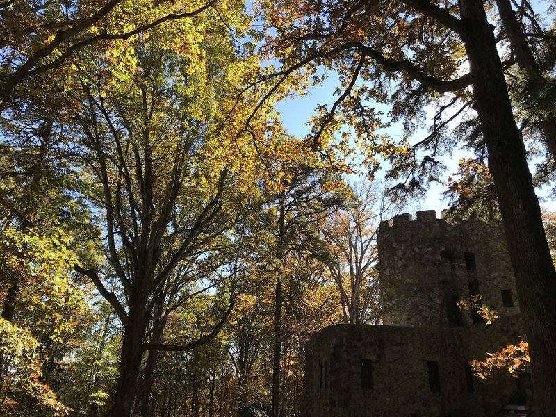 Gimghoul Castle on a fall day.