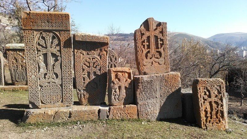 Cross stones (khachkars) in Makravank