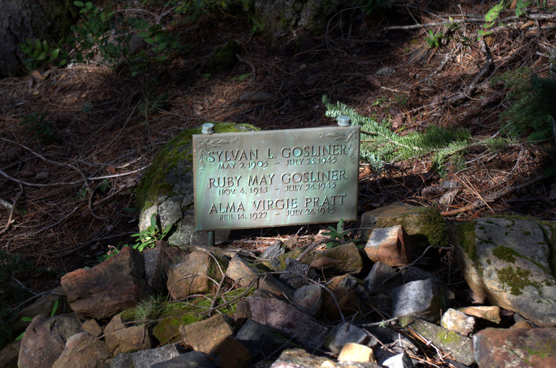 The gravesite just to one side of the #957 Trail.