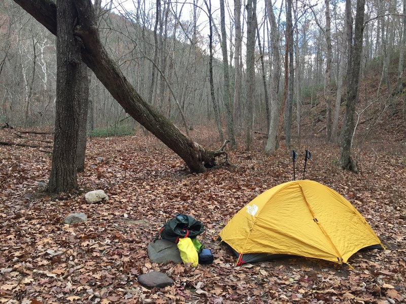 Off season in the Shenandoah is heavenly. Low temperature camping off the Paine Run Trail