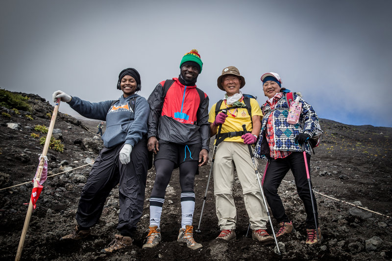 Mount Fuji is as so popular that you'll see people from 8 to 79 years old like those two on the right! Yet, this mountain is equally challenging for everyone! What are you waiting for?